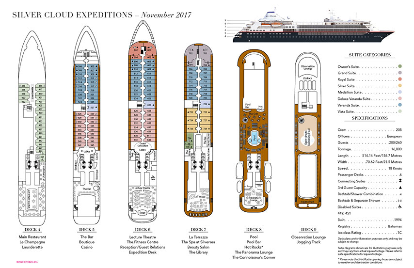 SILVER CLOUD EXPEDITION Deckplan