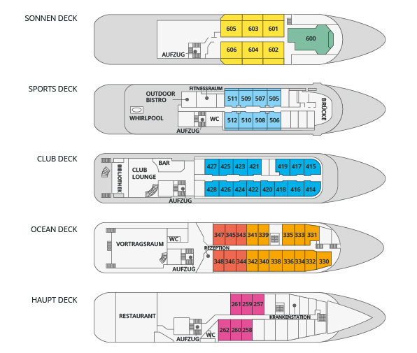 Sea Spirit Deckplan