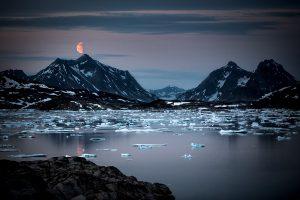 Mondaufgang im Ammassalik Fjord