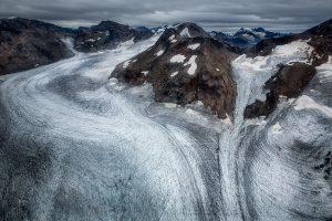 Gletscherlinien im Tasiilaqgebirge