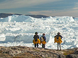 Die Route arktischer Entdecker