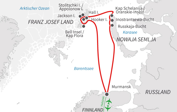 Franz Josef Land und Nowaja Semlja