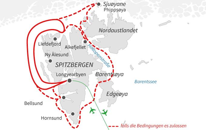 Höhepunkte Spitzbergens