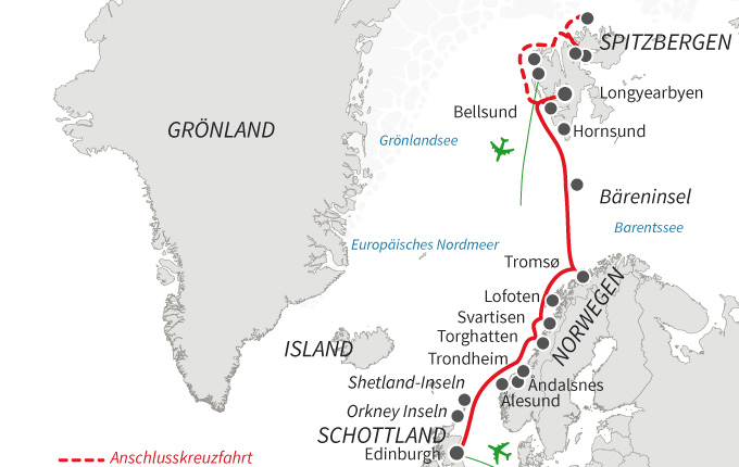 Nordische Inseln und Fjorde