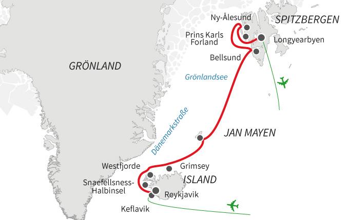 Von Island nach Spitzbergen