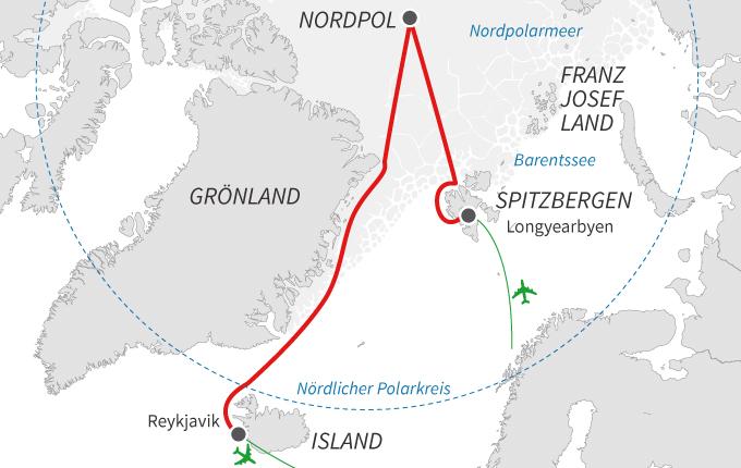 Der geographische Nordpol