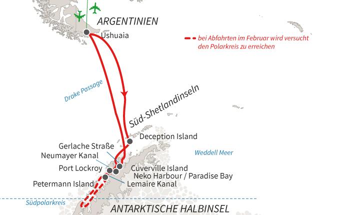 Atemberaubende Antarktis