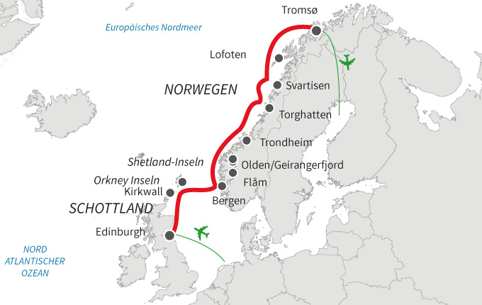 Schottische Highlands und norwegische Fjorde
