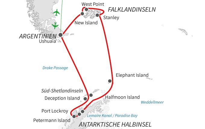 Antarktis und Falklandinseln