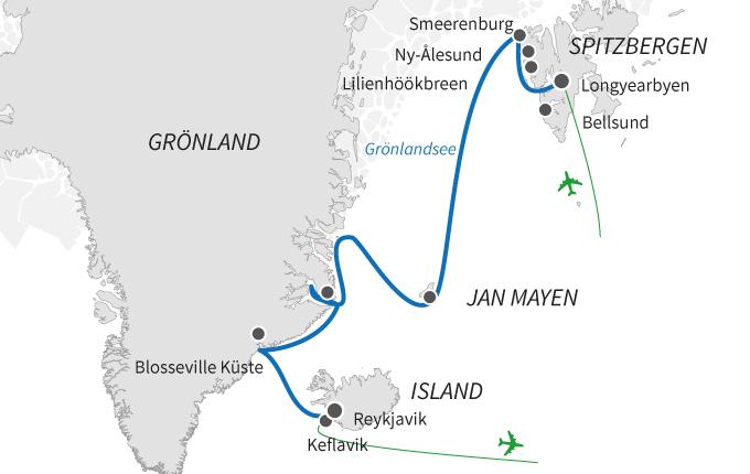 Island, Jan Mayen und Spitzbergen